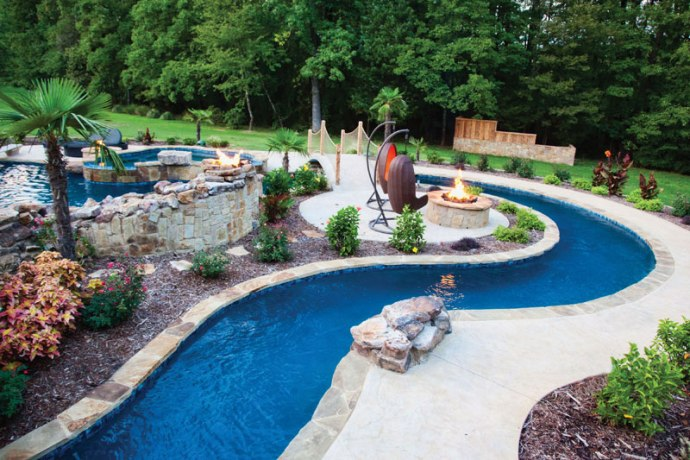 Project Highlight Lazy River Pool Luxury Pools Outdoor Living
