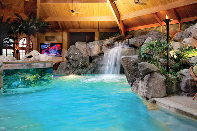Indoor pool grotte  Secret Hideaways: Spectacular Pool Caves & Grottos - Luxury Pools + ...