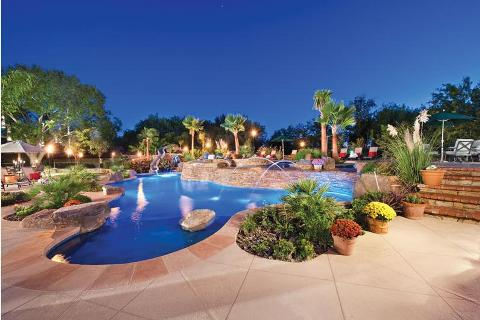 Lagoon-Style Pool Features - Luxury Pools + Outdoor Living