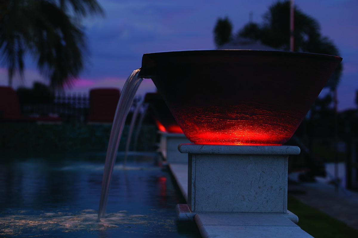 Adding Magic To Your Poolscape With Light And Movement