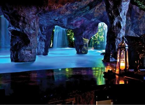 Caves And Grottos Lend An Authentic Charm To Lagoon Style Pools Just Like The Natural Sea That Form Over Time From Wave Erosion A Pool Cave Or
