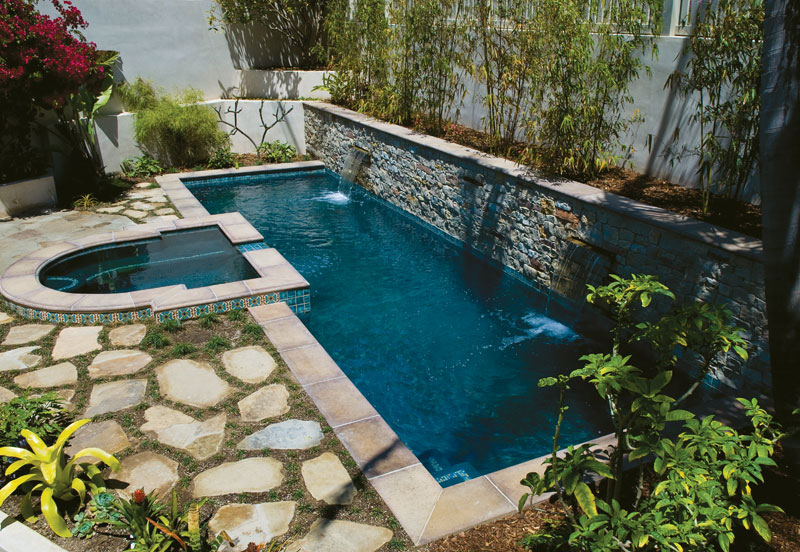 Lap Pool Straight And Spa Concrete Rectangular Contemporary