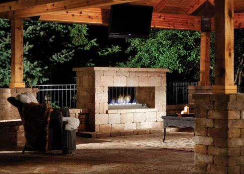 Nothing Does A Better Job Of Transforming Backyard Patio Into An Outdoor Room Than Fireplace Double Sided Design Allows You To Enjoy The Heat And