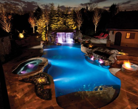 Pool And Landscape Lighting Luxury Pools Outdoor Living
