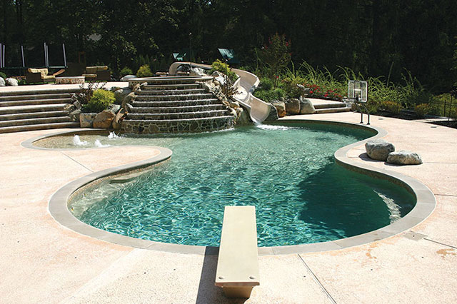 Options for concrete pool decks luxury pools outdoor - Concrete swimming pools vs fiberglass ...
