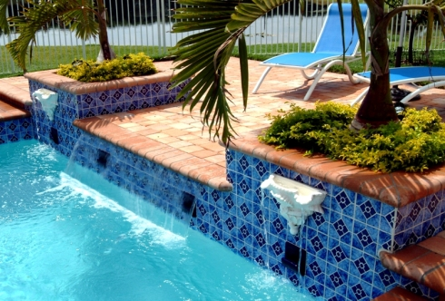 Custom Water Features For Pools Fountains Scuppers Fire More