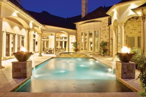 Gorgeous Courtyard Gardens And Patios Luxury Pools Outdoor Living