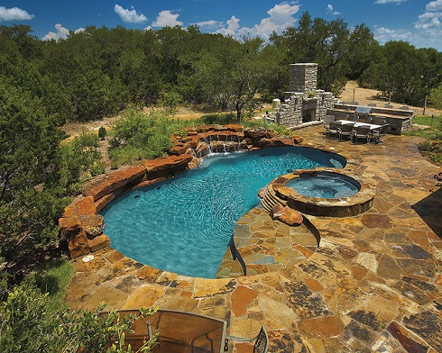 Another Pool Deck Material That Is Frequently Considered Flagstone A Common Term For Any Type Of Flat Slab Natural Paving Like The Oklahoma Stone