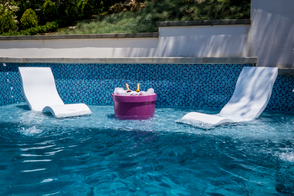 """Ledge Lounger: The Ultimate """"In-Water"""" Pool Furniture"""
