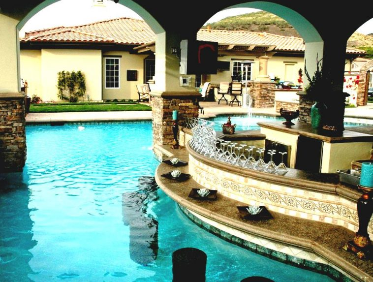 Create A Polished Poolside Bar Luxury Pools Outdoor Living