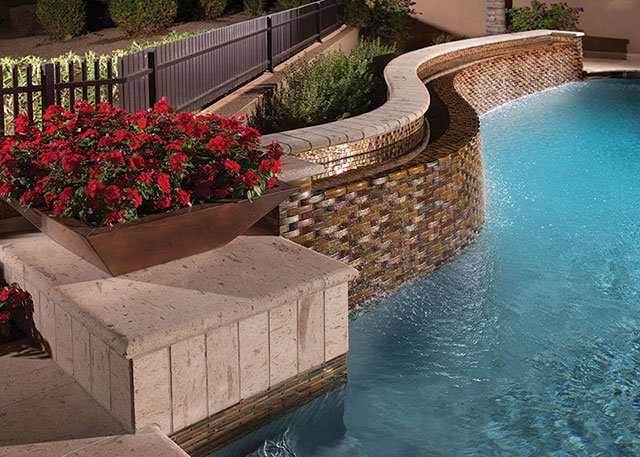 Choosing The Right Size And Ratio For Custom Glass Pool Tiles Luxury Pools Outdoor Living