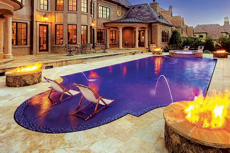 Glass tile swimming pool designs luxury pools outdoor for Italian pool design 7