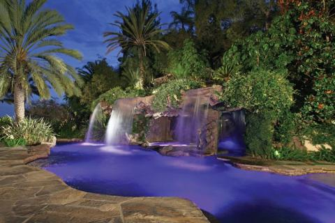 Landscaping Truly Sets The Scene For A Lagoon Style Pool By Simulating Environment Of Tropical Cove