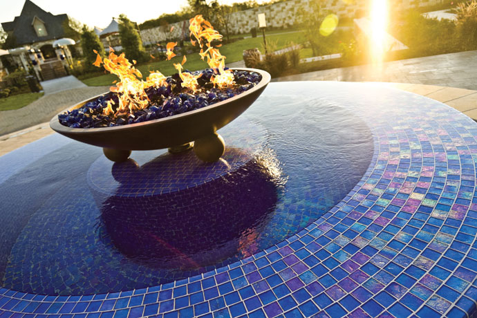 Fire Features Pool Designs With Flare Luxury Pools