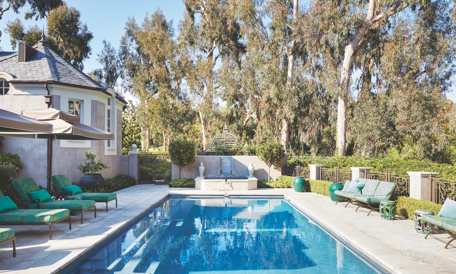 Dream Backyard Design at a Los Angeles Estate - Luxury ... on Dream Backyard With Pool id=15201