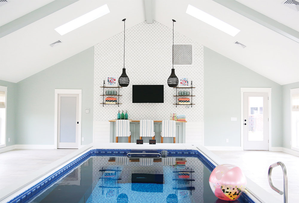An indoor oasis designed by Endless Pools
